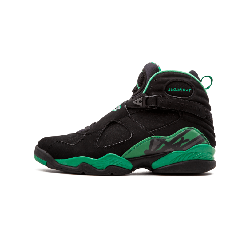 "Air Jordan 8 Retro ""Sugar Ray"" Black/Stealth-Clover 305381-002"