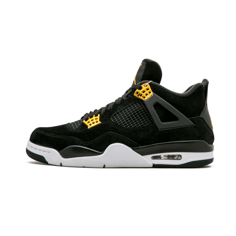 "Air Jordan 4 Retro ""Royalty"" Black/Metallic Gold-White 308497-032"