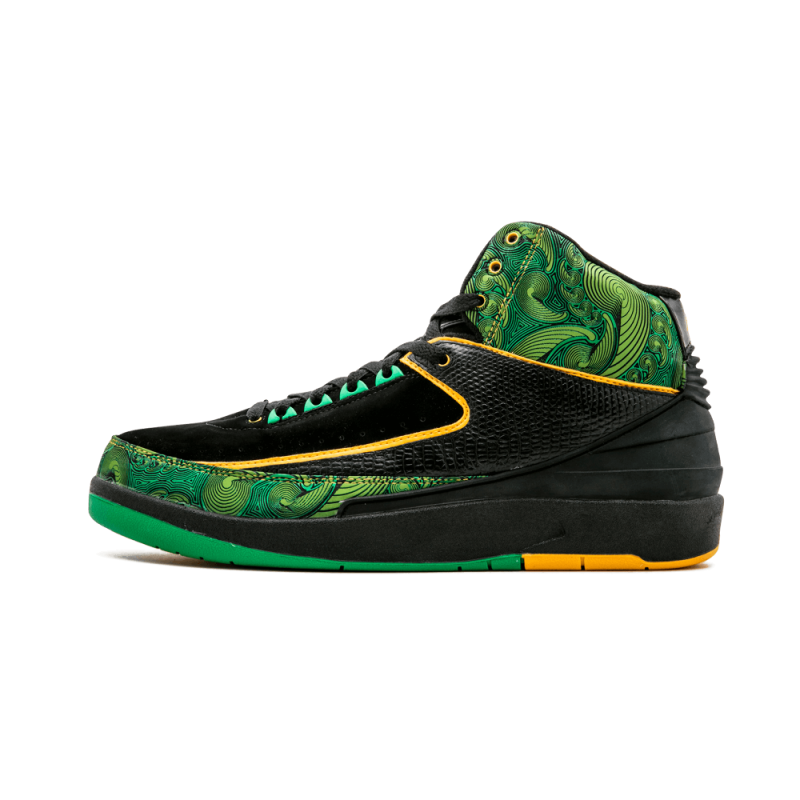 "Air Jordan 2 Retro High DB ""Doernbecher"" Black/Pro Gold-Lucky Green 318304-071"