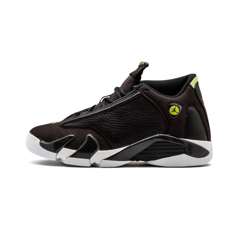 Air Jordan 14 Retro WMNS Black/Black-White-Vivid Green 487524-005