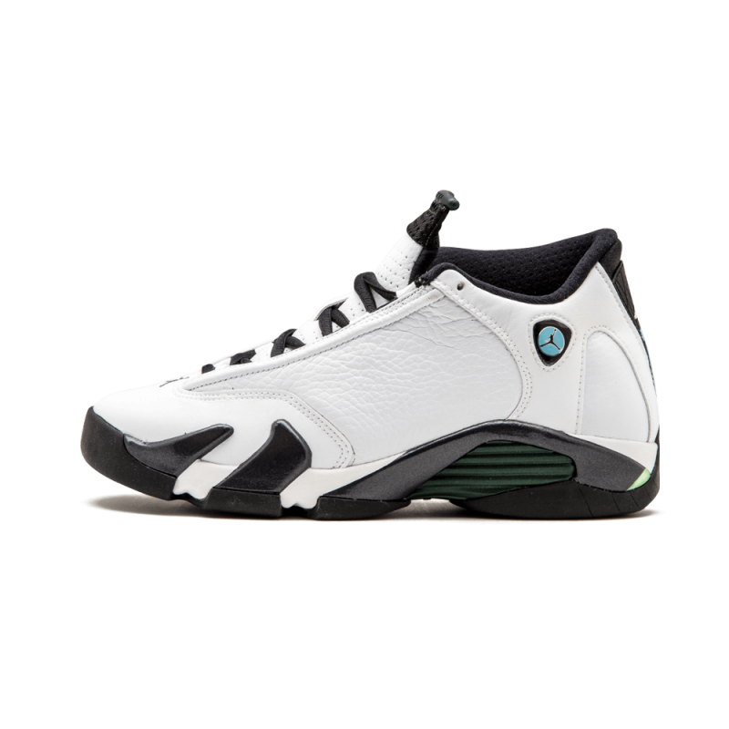 Air Jordan 14 Retro WMNS White/Black-Oxidized Green 487524-106