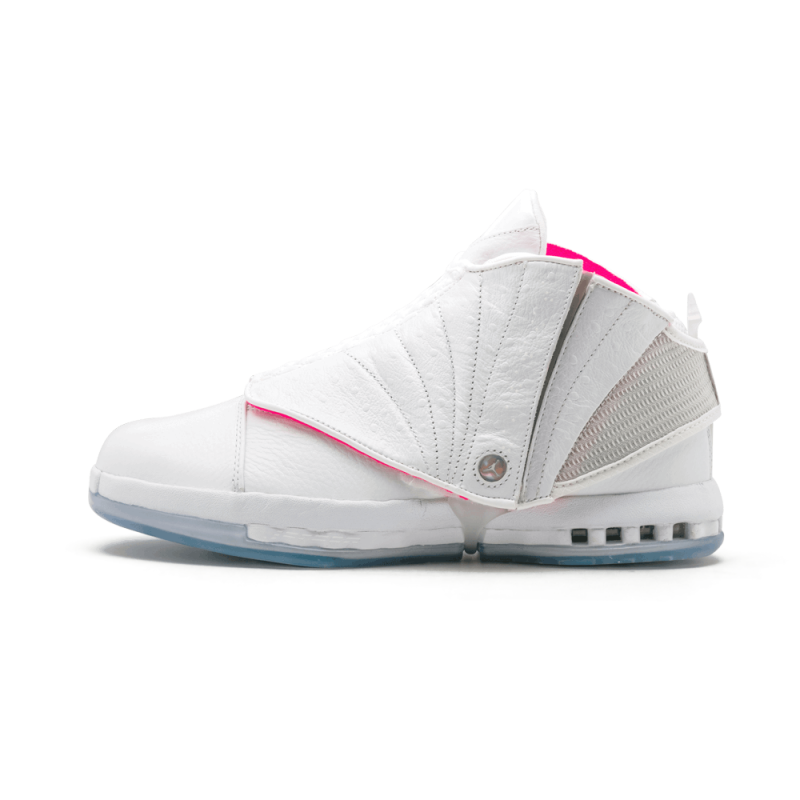 "Air Jordan 16 Retro Solefly ""Solefly Art Basel"" White/Retro-Pink 854256-119"