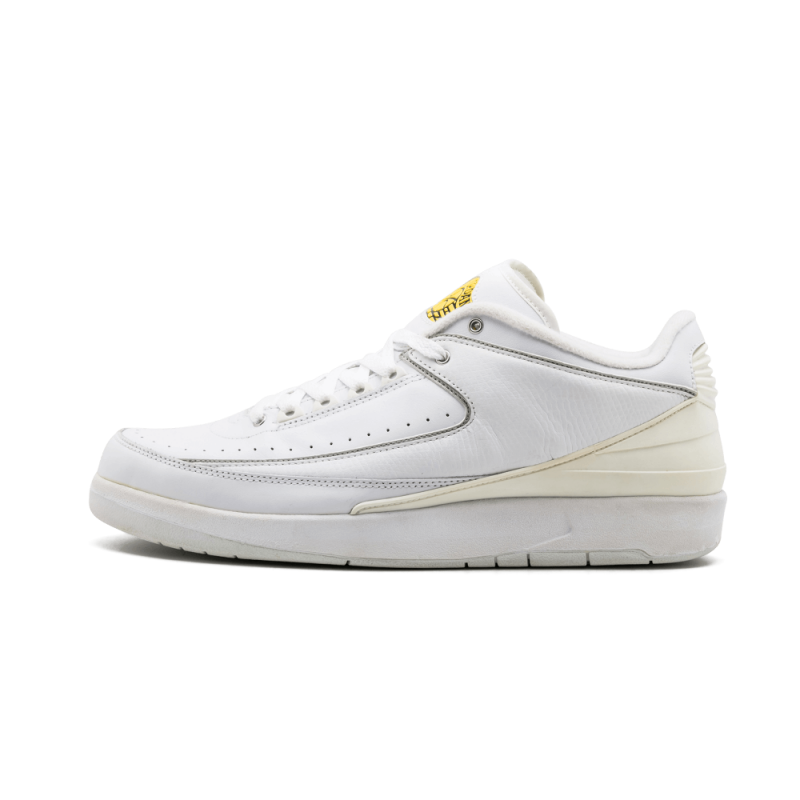Air Jordan 2 Retro Low White/Metallic Silver-Varsity Maize 309837-102