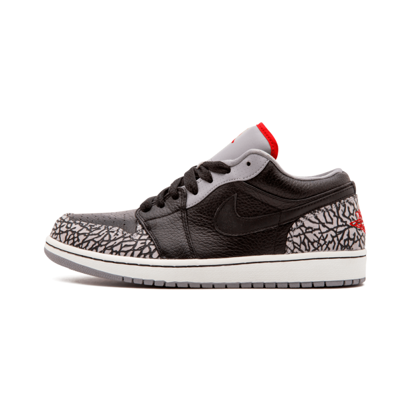 Air Jordan 1 Phat Low Black/Varsity Red-White-Grey 350571-061