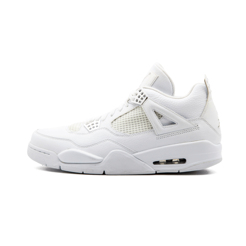 "Air Jordan 4 Retro ""25th Anniversary"" White/Metallic Silver 408202-101"