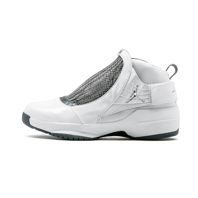 Air Jordan 19 White/Chrome-Flint Grey-Black 307546-102 Cyber Monday