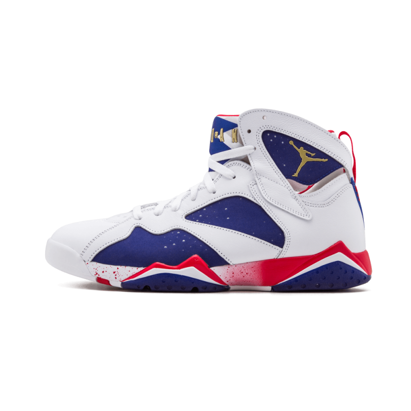"Air Jordan 7 Retro ""OLYMPICS 16'"" White/Metallic Gold-Royal Blue 304775-123"