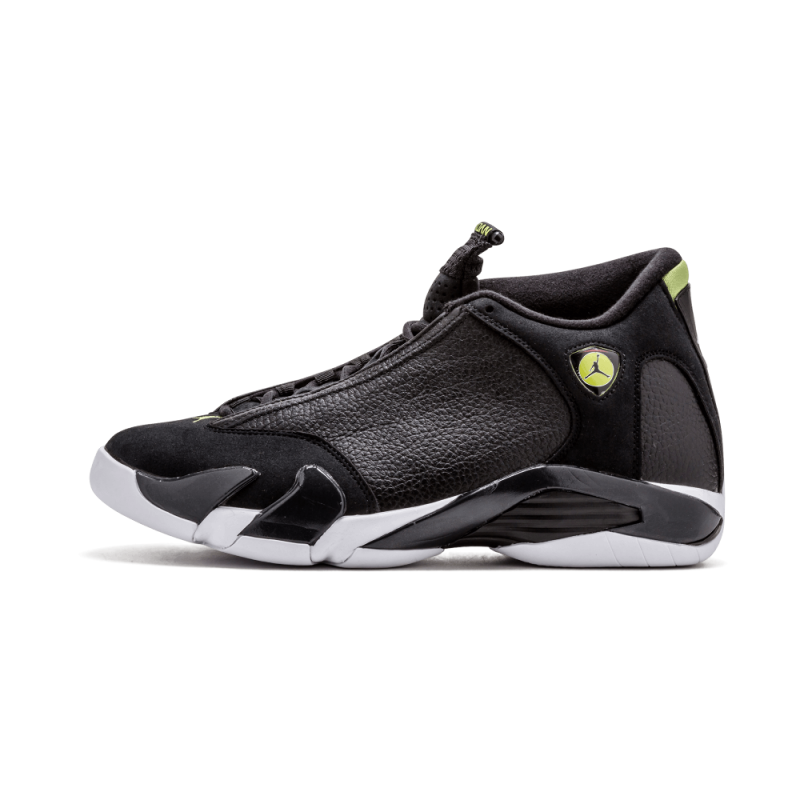 Air Jordan 14 Retro Black/Black-White-Vivid Green 487471-005