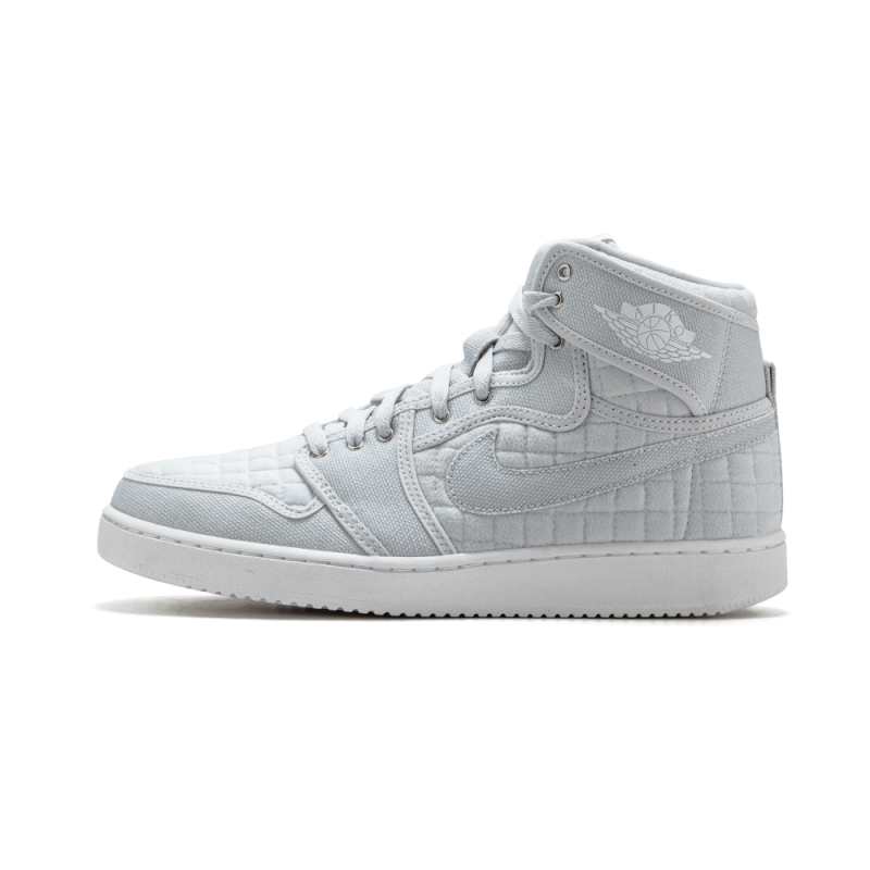 Air Jordan 1 KO High OG Pure Platinim/White-Metallic Silver 638471-004