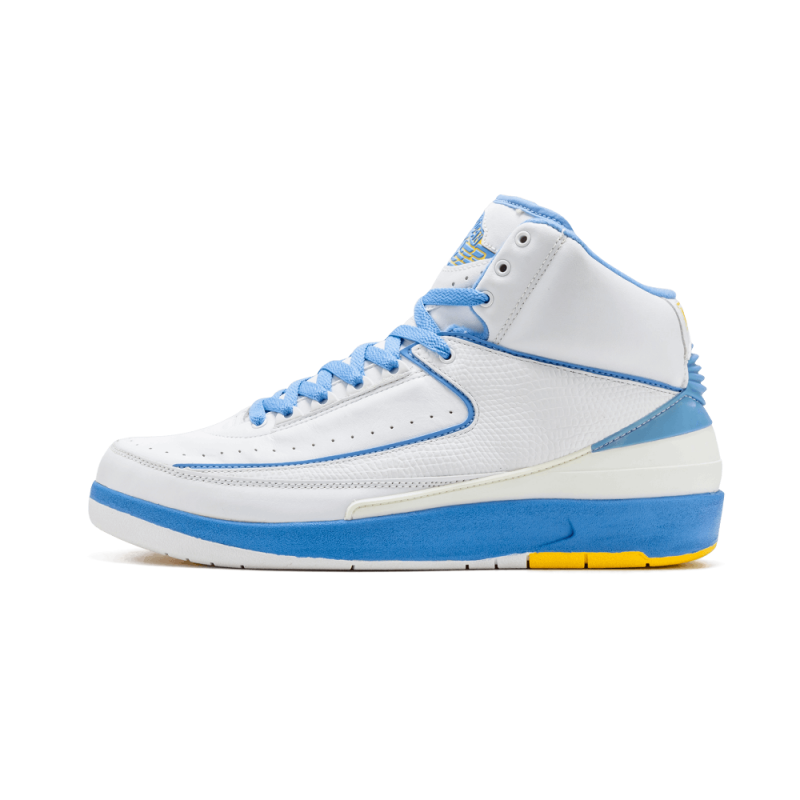 "Air Jordan 2 Retro ""Carmelo"" White/University Blue-Varsity Maize 308308-141"