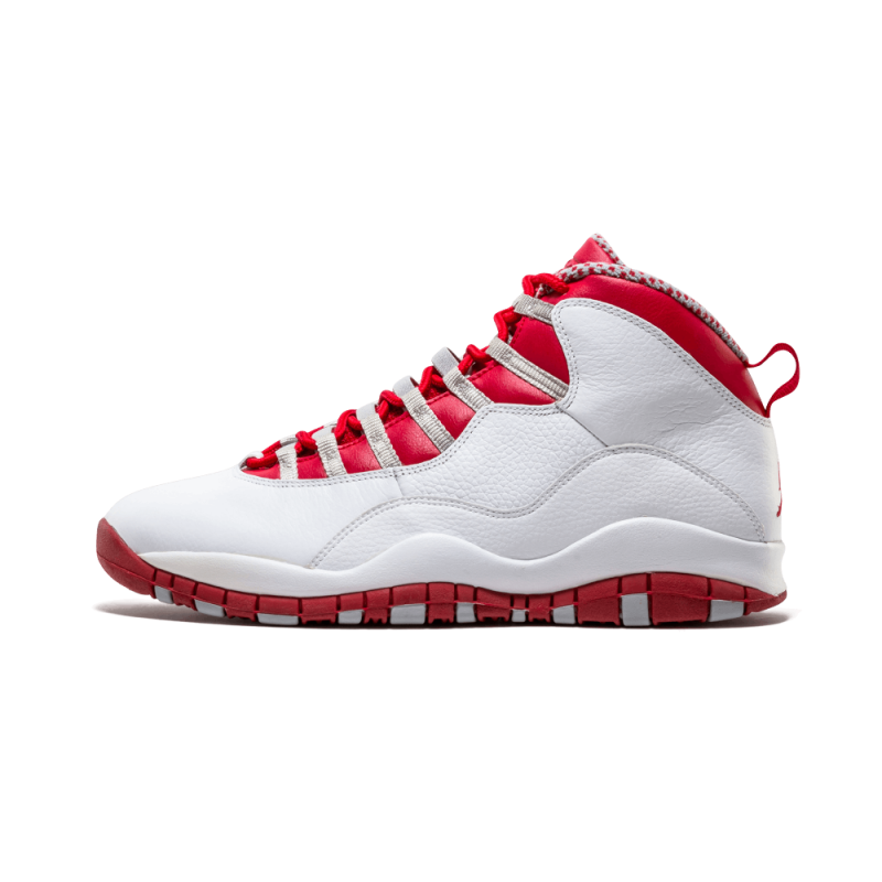 Air Jordan 10 Retro White/Red-Steel Grey 310805-161 Cyber Monday