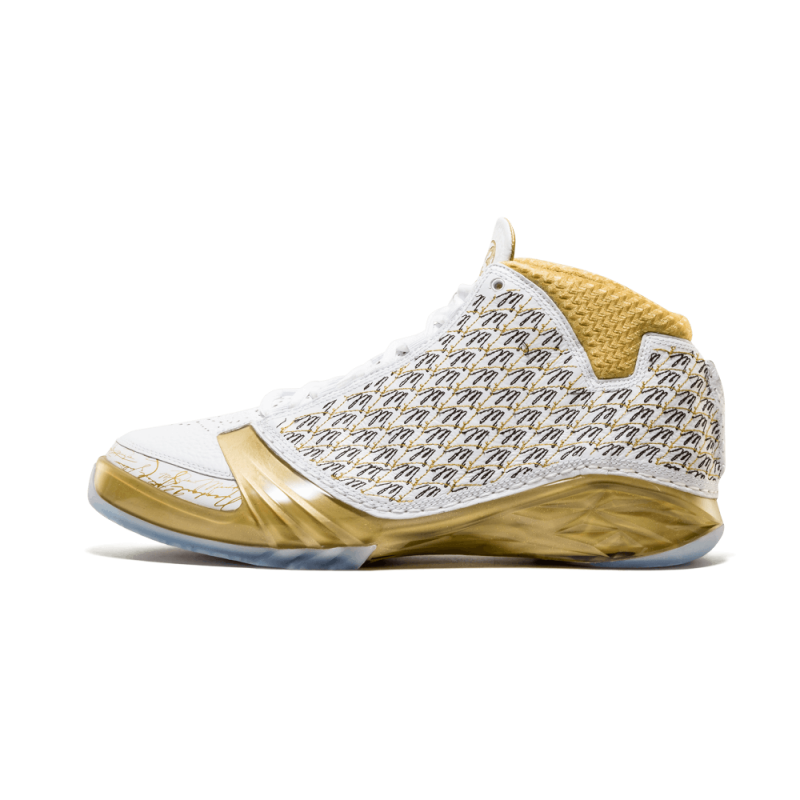 Air Jordan 23 Trophy Room White/Mtlc Gold-Black-White 853336-123