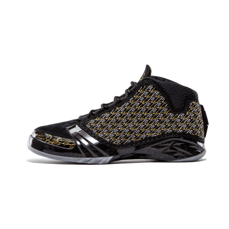 "Air Jordan 23 Trophy Room ""Trophy Room"" Black/Black-Mtlc Gold-Dark Grey 853336-023"
