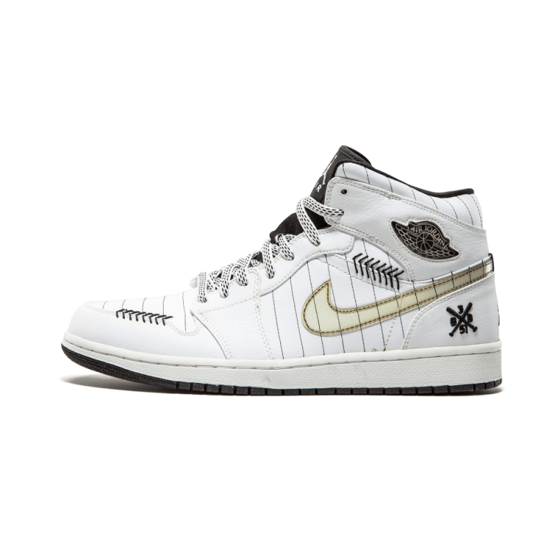 "Air Jordan 1 ""Baron Home"" White/Black-Silver 325514-102 Cyber Monday"