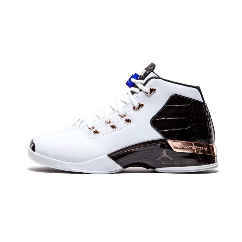 Air Jordan 17 + Retro White/Mtlc Cpprcn-Black 832816-122 Cyber Monday