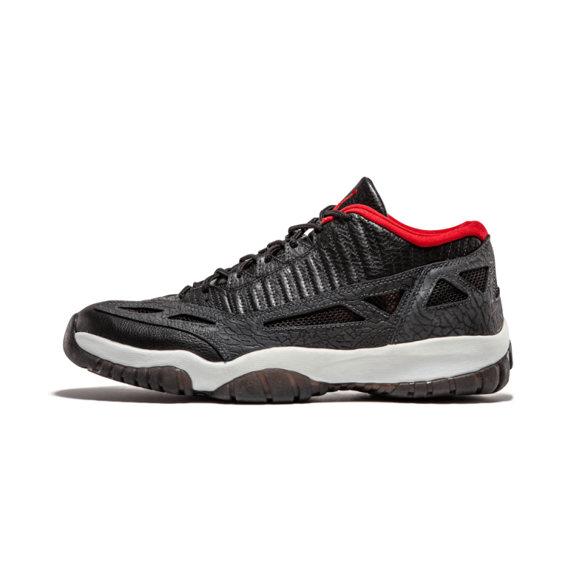 "Air Jordan 11 Retro Low ""03'"" Black/Varsity Red-Dark Char 306008-061"