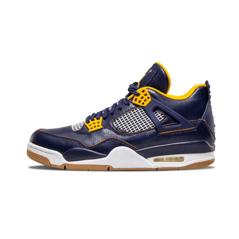 "Air Jordan 4 Retro ""Dunk From Above"" Mid Navy/Metallic Gold-White 308497-425"