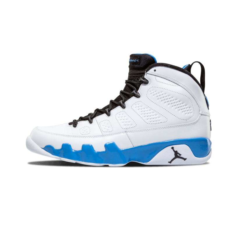 "Air Jordan 9 Retro ""POWDER"" White/Black-University Blue 302370-103 Black Friday"