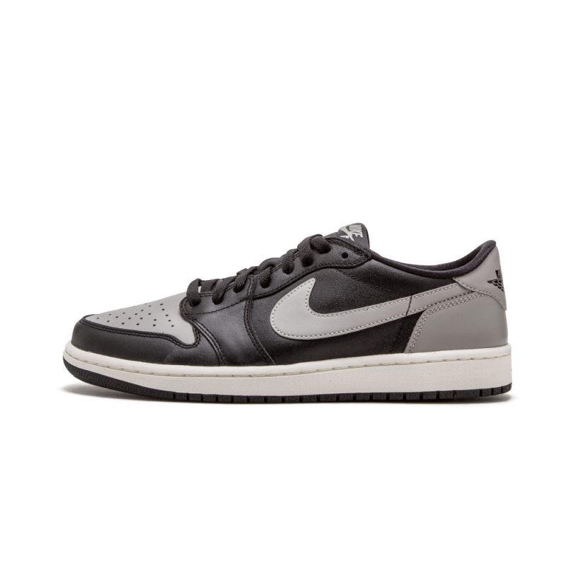 "Air Jordan 1 Retro Low OG ""Shadow"" Black/Medium Grey-Sail 705329-003"