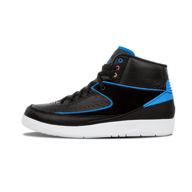 "Air Jordan 2 ""Radio Raheem"" Black/Photo Blue-White-Pink 834274-014"