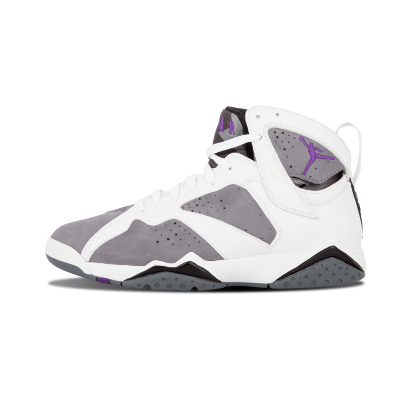 "Air Jordan 7 Retro ""Flint"" White/Varsity Purple-Grey 304775-151"