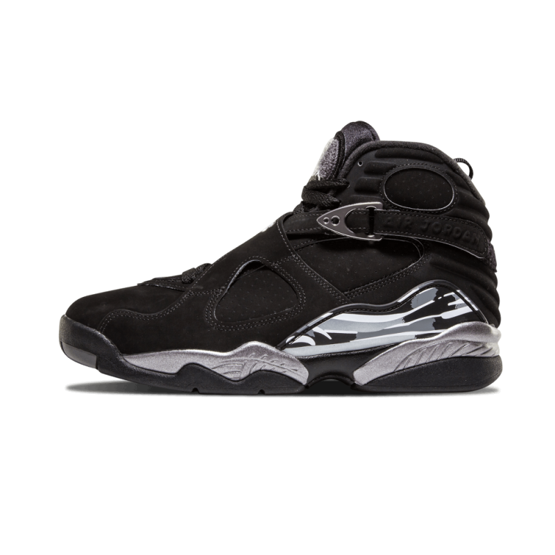 "Air Jordan 8 Retro ""Chrome"" Black/White Graphite 305381-003 Cyber Monday"