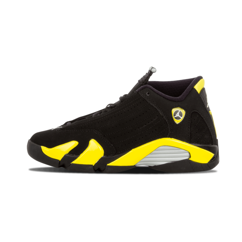 "Air Jordan 14 Retro WMNS ""Thunder"" Black/YelLow-White 487524-070"