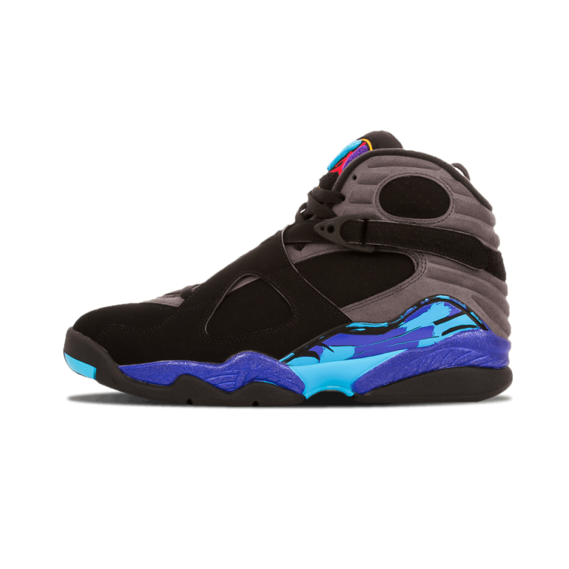 "Air Jordan 8 Retro ""Aqua"" Black/Red-Grey 305381-025 Black Friday"