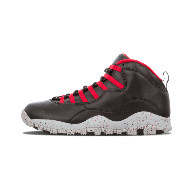 "Air Jordan 10 Retro ""Public School"" Black/Gym Red/Grey 537687-AJ10"