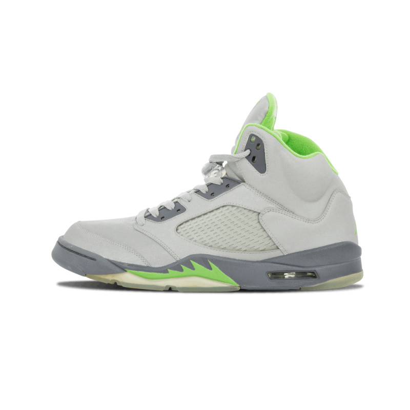 "Air Jordan 5 Retro ""Green Bean"" Silver/Green Bean-Flint Grey 136027-031"