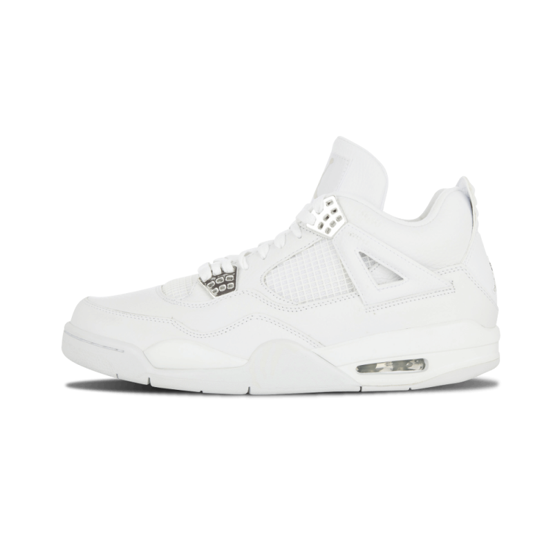 "Air Jordan 4 Retro ""Pure"" White/Metallic Silver 308497-102"