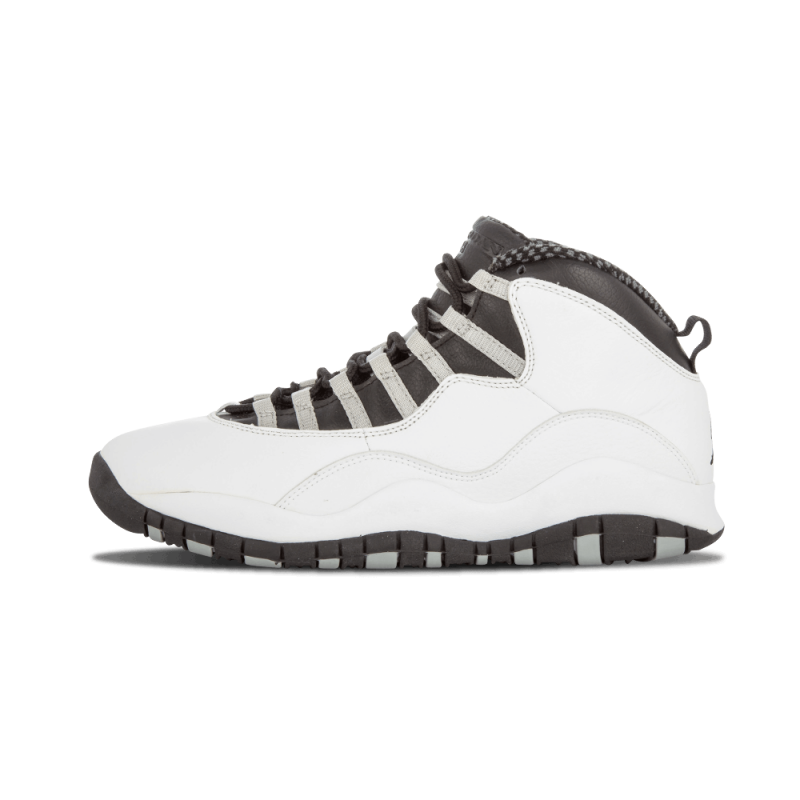 "Air Jordan 10 Retro ""Steel"" White/Black-Light Grey 310805-101"