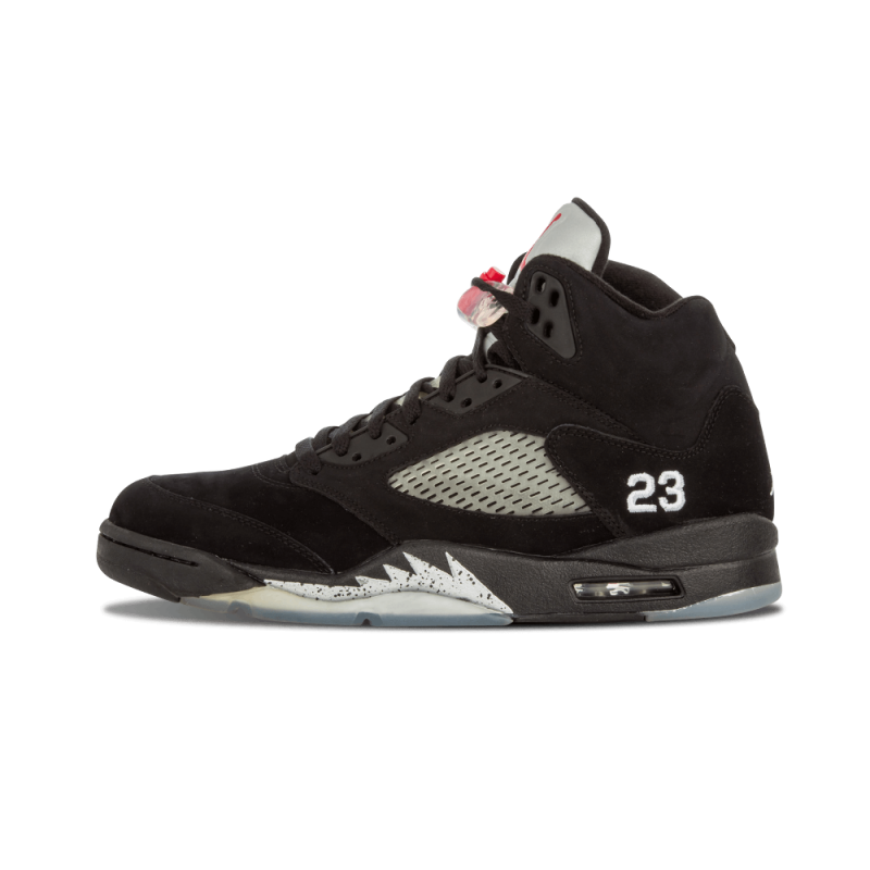 "Air Jordan 5 Retro ""Metallic"" Black/Varsity Red-Mtllc Silver 136027-010"