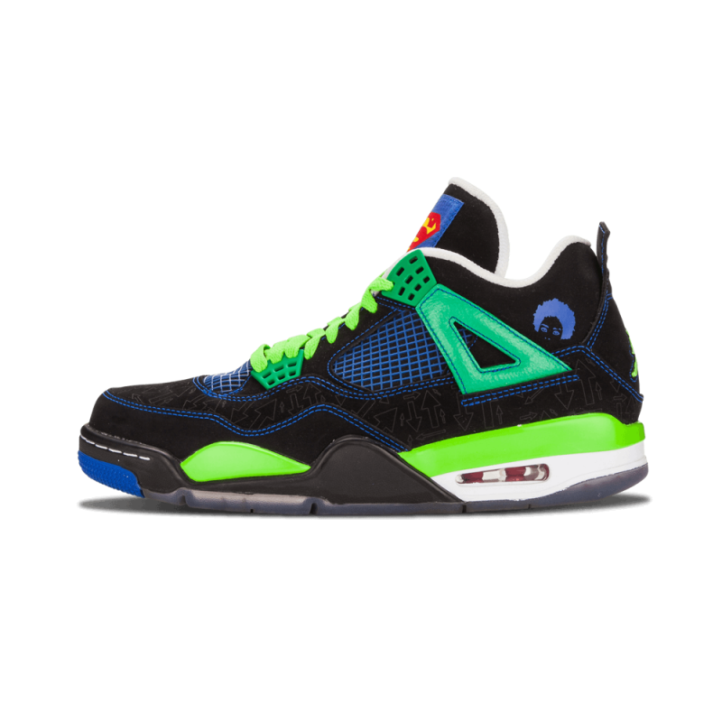 "Air Jordan 4 Retro ""Doernbecher"" Black/Green-White 308497-015"