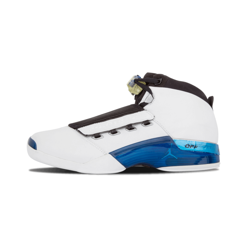 Air Jordan 17 White/College Blue-Black 302720-141 Cyber Monday
