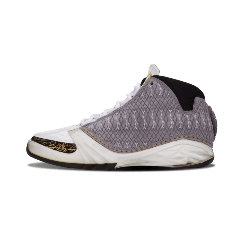 Air Jordan 23 White/Black-Mtllc Gold 318376-102 Cyber Monday