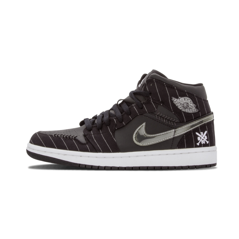 "Air Jordan 1 ""Opening Day"" Black/White-Silver 325514-012 Black Friday"