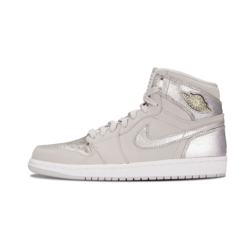 "Air Jordan 1 Retro Hi Silver ""25th Anniversary"" Neutral Grey/Metallic Silver-White 396009-001"