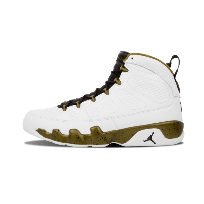 "Air Jordan 9 Retro ""Statue"" White/Black-Militia Green 302370-109"