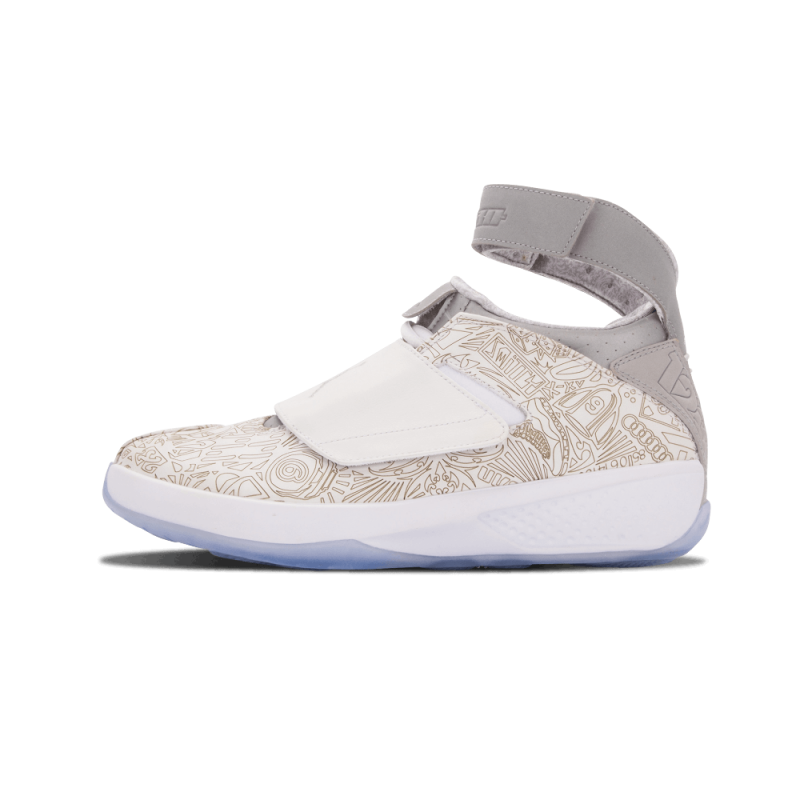 "Air Jordan 20 Laser ""Laser"" White/Metallic Silver-White 743991-100"