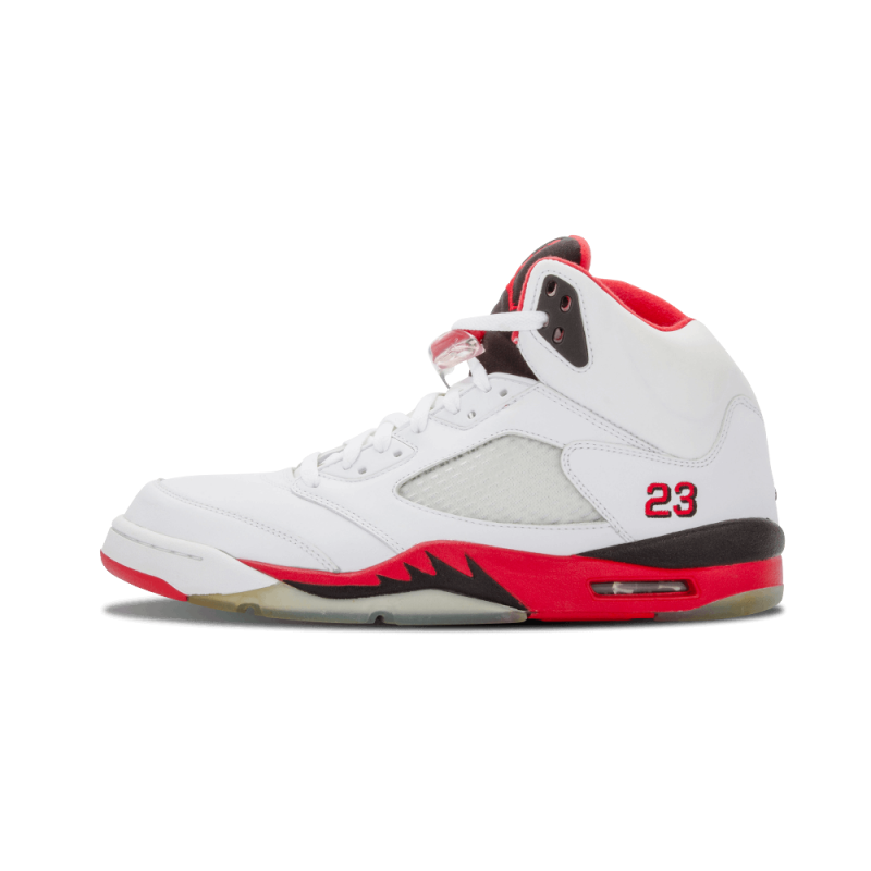 "Air Jordan 5 Retro ""Fire Red"" White/Fire Red-Black 136027-162"