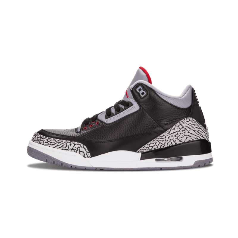 "Air Jordan 3 Retro ""Black Cement"" Black/Varsity Red-Cement Grey 136064-010"