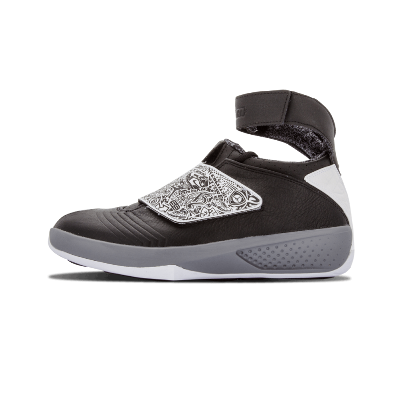 "Air Jordan 20 ""PLAYOFF"" Black/White-Cool Grey 310455-003 Black Friday"