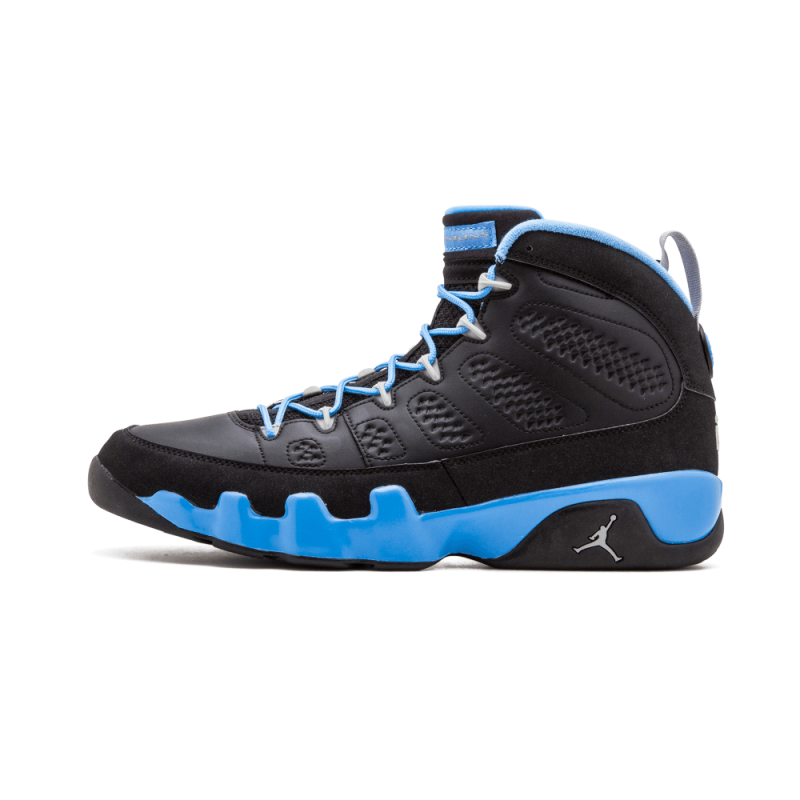 "Air Jordan 9 Retro ""Slim Jenkins"" Black/Matte Silver-Blue 302370-045"