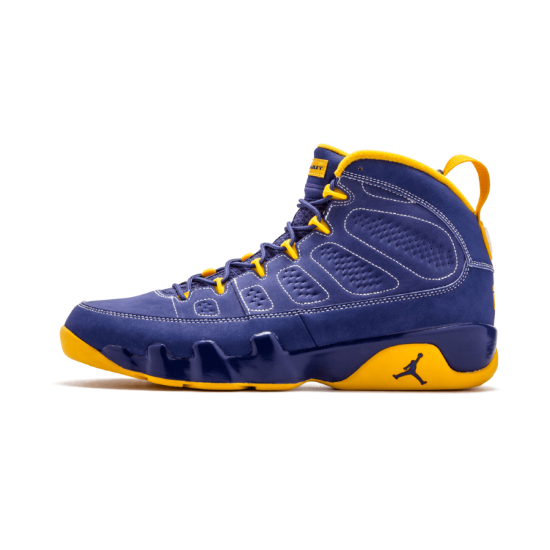 "Air Jordan 9 Retro ""Calvin Bailey"" Deep Royal/University Gold-White 302370-445"