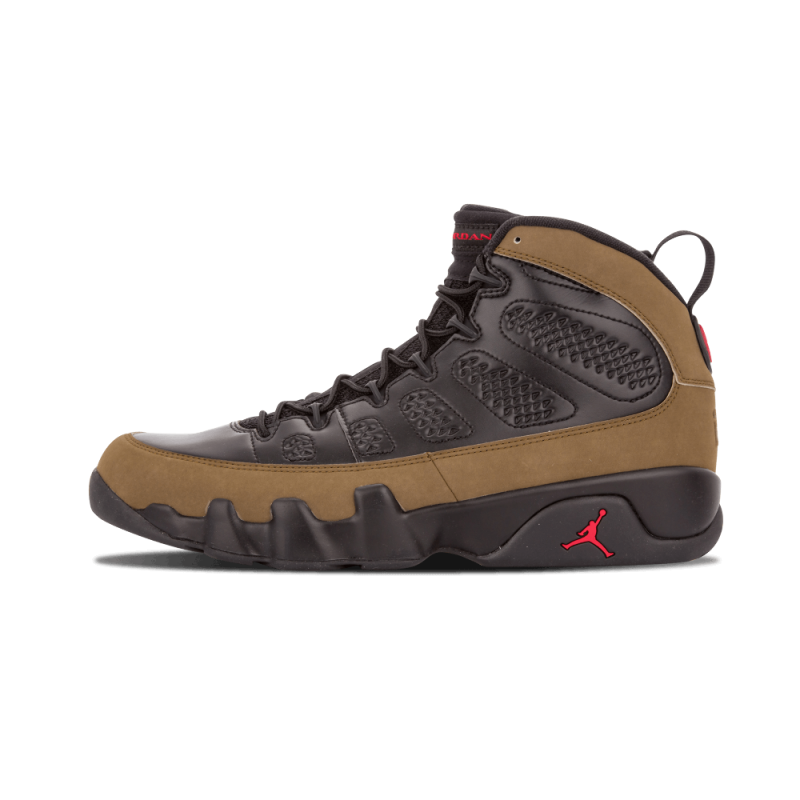 "Air Jordan 9 Retro ""Olive"" Black/Varsity Red-Light Olive 302370-020"