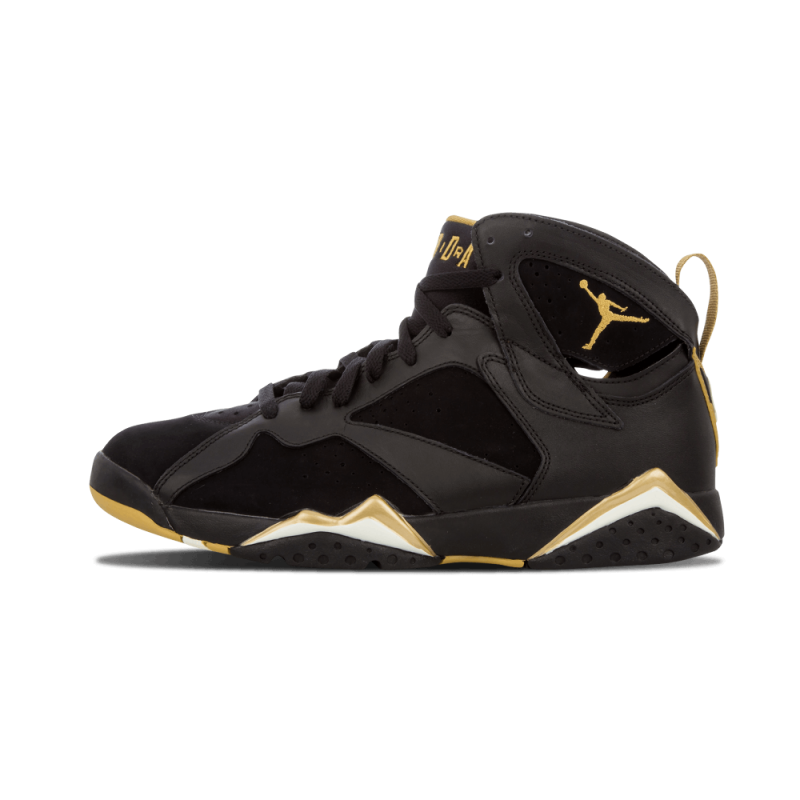 "Air Jordan 7 Retro ""Golden Moments Pack"" Black/Metallic Gold-White 304775-030"