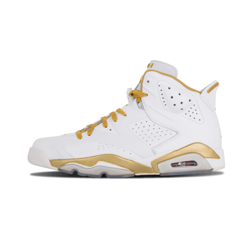 "Air Jordan 6 Retro ""Golden Moments Pack"" White/Metallic Gold 384664-135"