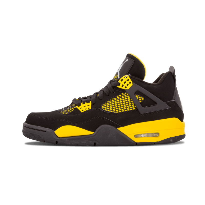 "Air Jordan 4 Retro ""Thunder"" Black/White-Tour Yellow 308497-008"