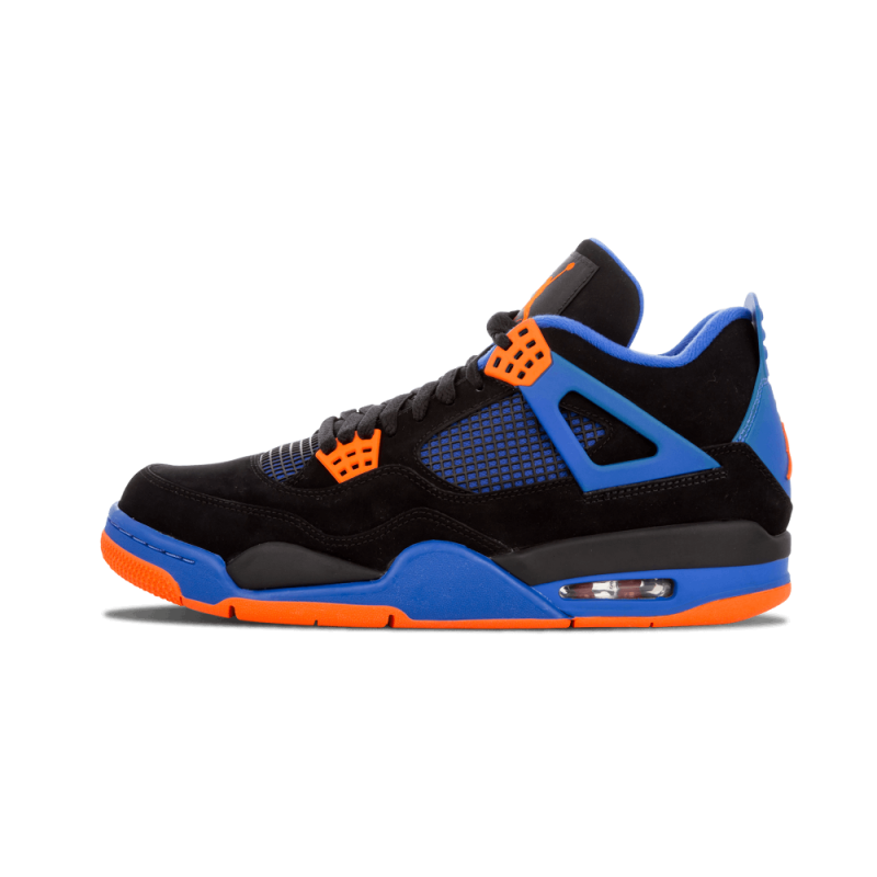"Air Jordan 4 Retro ""Cavs"" Black/Safety Orange-Game Royal 308497-027"